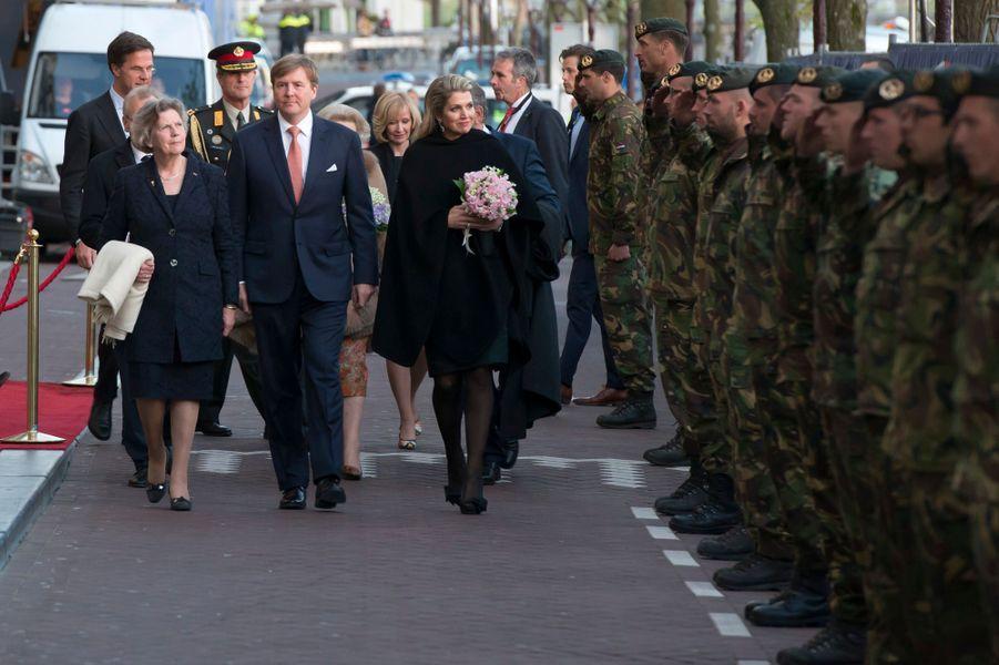 Le roi Willem-Alexander et la reine Maxima des Pays-Bas à Amsterdam, le 5 mai 2015