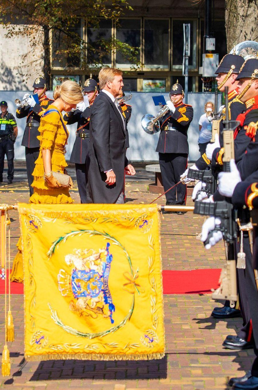La reine Maxima et le roi Willem-Alexander des Pays-Bas à La Haye, le 15 septembre 2020