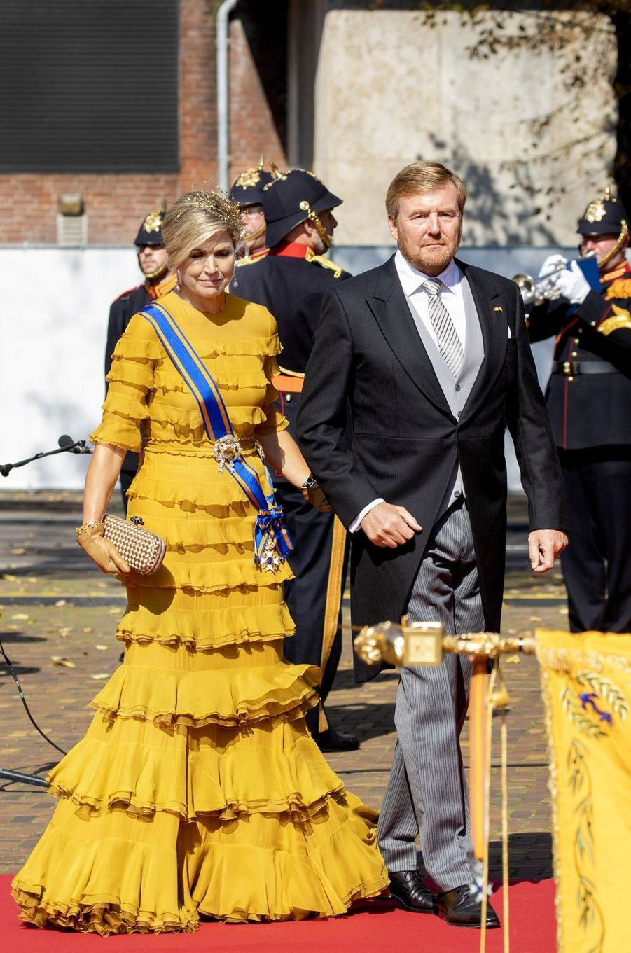 La reine Maxima avec le roi Willem-Alexander des Pays-Bas à La Haye, le 15 septembre 2020