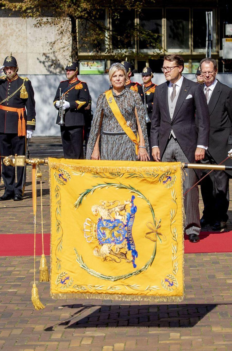 La princesse Laurentien et le prince Constantijn des Pays-Bas à La Haye, le 15 septembre 2020