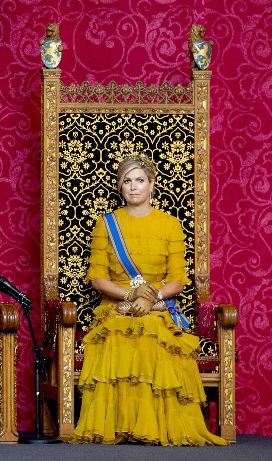 La reine Maxima des Pays-Bas à La Haye, le 15 septembre 2020