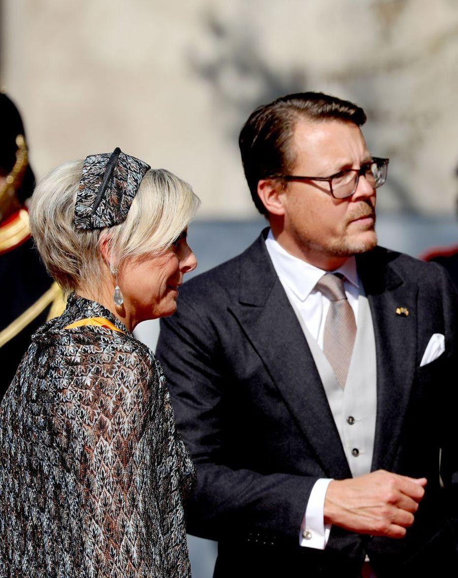 La princesse Laurentien avec le prince Constantijn des Pays-Bas à La Haye, le 15 septembre 2020