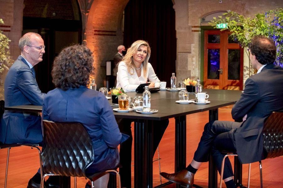 La reine Maxima des Pays-Bas à Amsterdam, le 25 novembre 2020