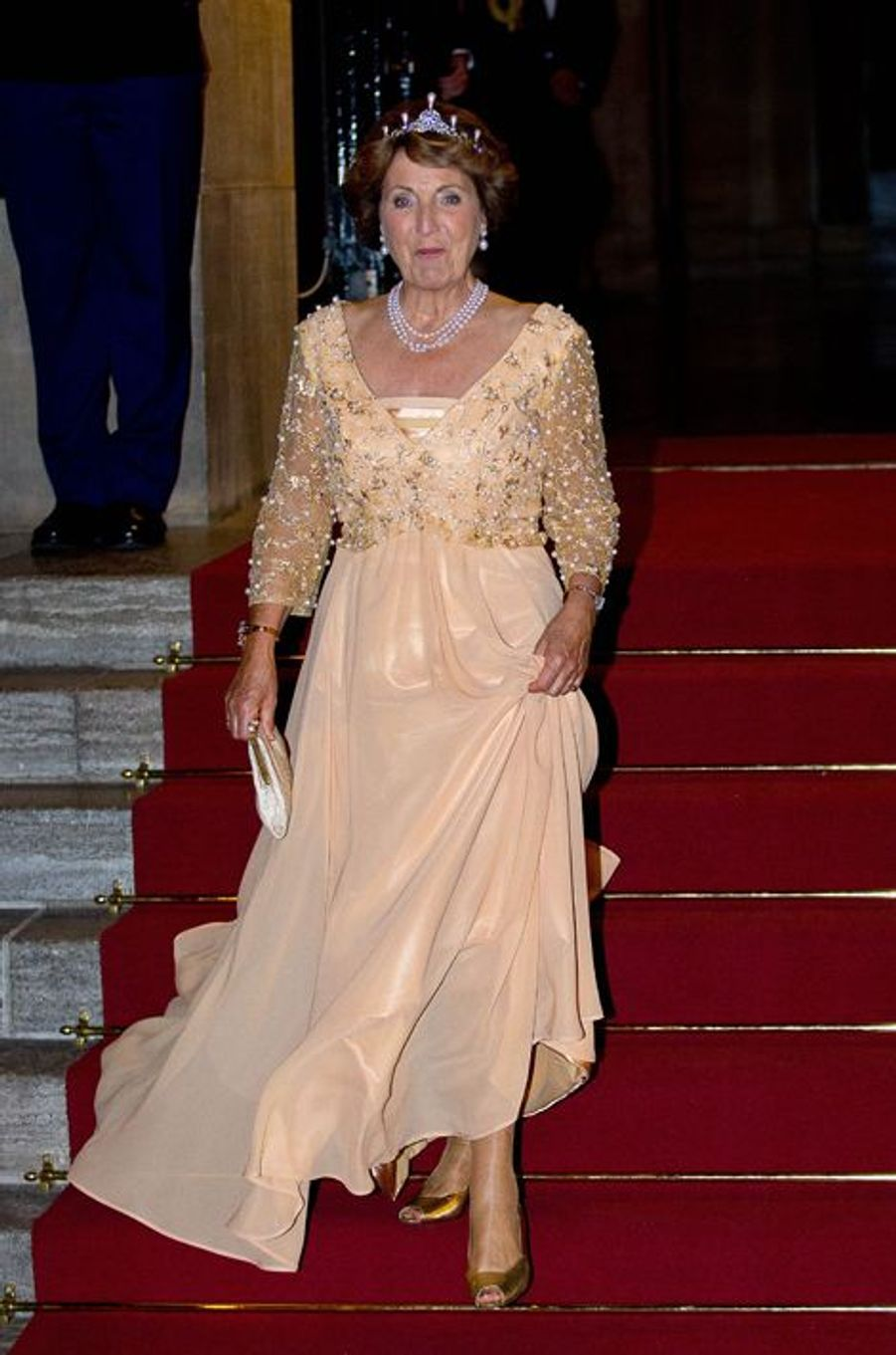 La princesse Margriet des Pays-Bas après le dîner de gala des diplomates à Amsterdam, le 24 juin 2015