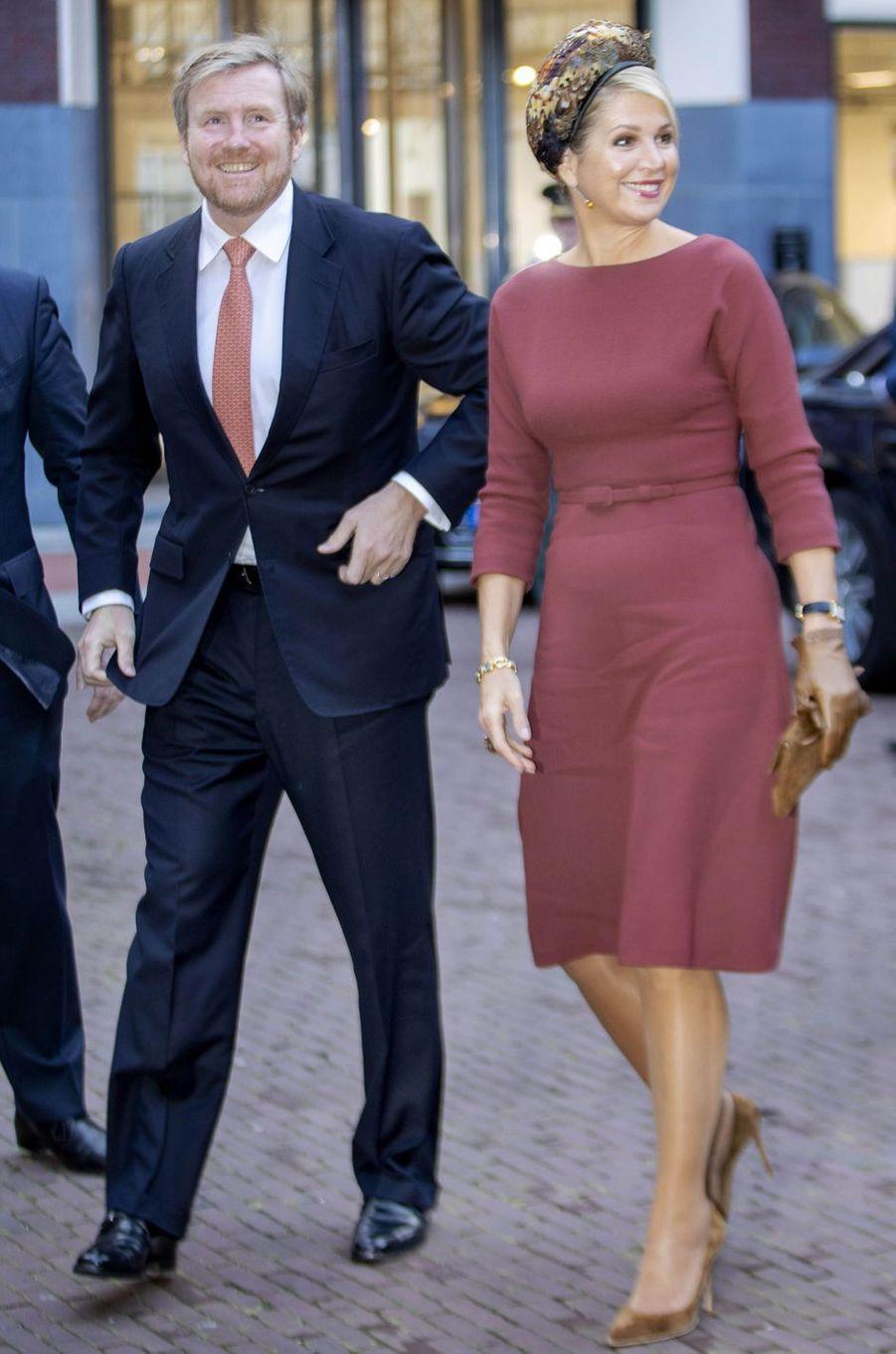 Le roi Willem-Alexander et la reine Maxima des Pays-Bas à Amsterdam, le 18 février 2020