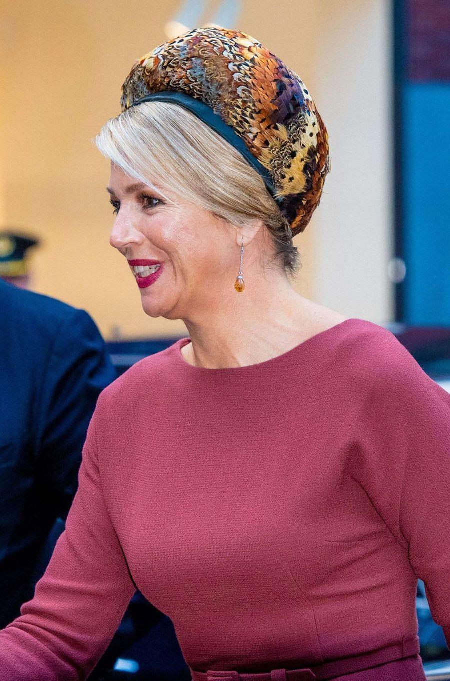 La reine Maxima des Pays-Bas à Amsterdam, le 18 février 2020