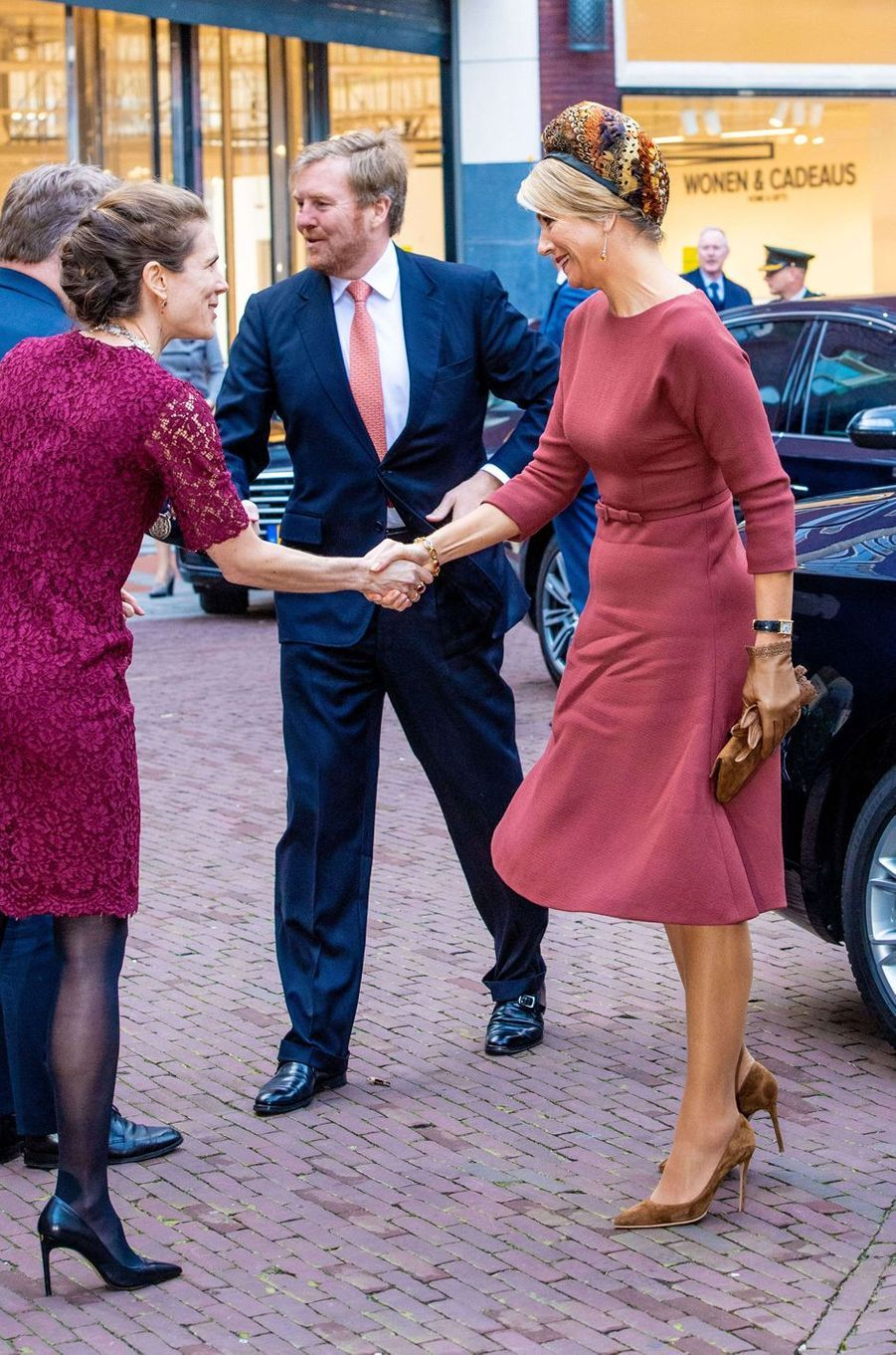 La reine Maxima et le roi Willem-Alexander des Pays-Bas à Amsterdam, le 18 février 2020