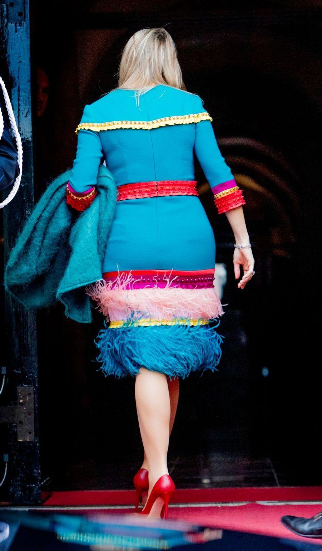 La reine Maxima des Pays-Bas, de dos, à Amsterdam le 28 novembre 2019