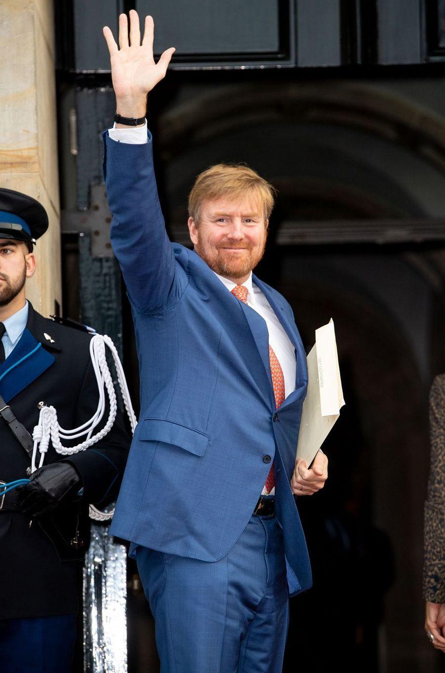 Le roi Willem-Alexander des Pays-Bas à Amsterdam, le 28 novembre 2019