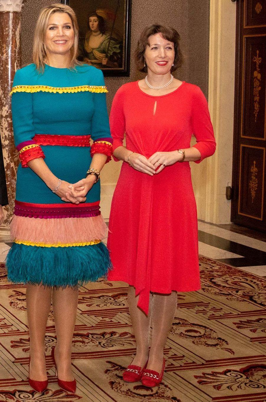 La reine Maxima des Pays-Bas à Amsterdam, le 28 novembre 2019