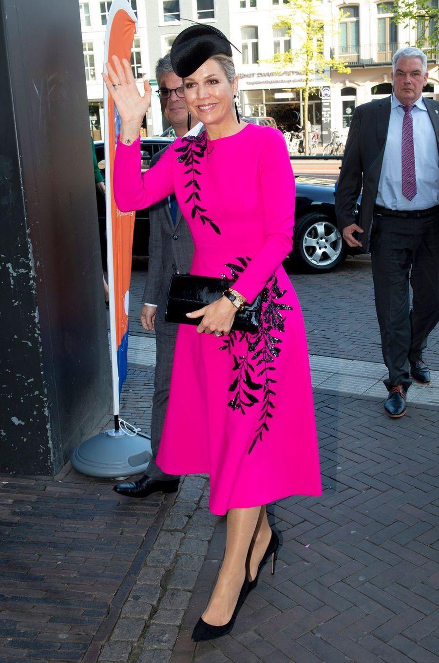 La reine Maxima des Pays-Bas, le 18 avril 2019 à Utrecht