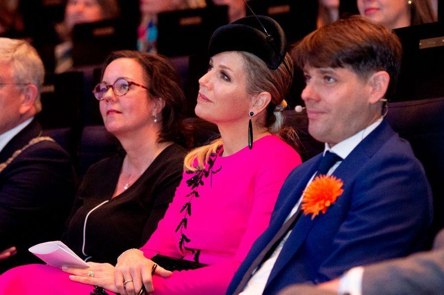 La reine Maxima des Pays-Bas à Utrecht, le 18 avril 2019