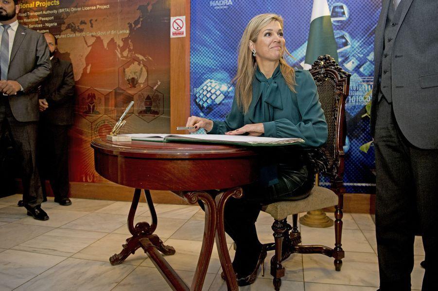 La reine Maxima des Pays-Bas à Islamabad, le 11 février 2016