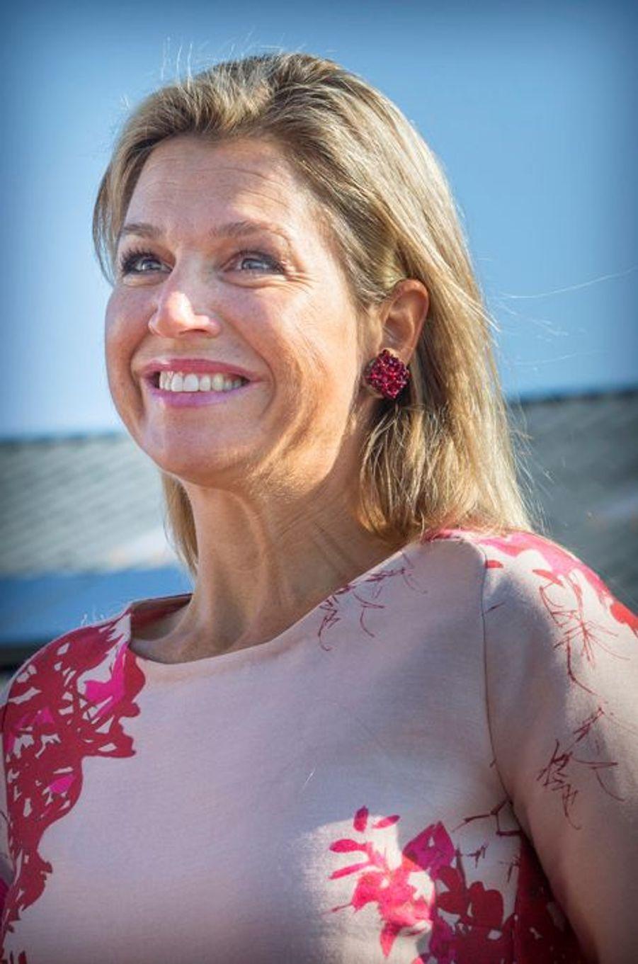 La reine Maxima des Pays-Bas dans la Frise, le 9 septembre 2015