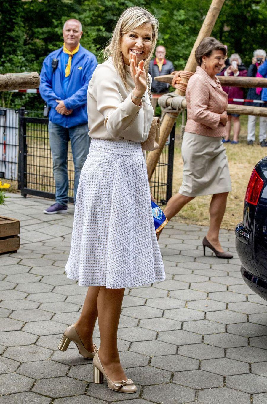 La reine Maxima des Pays-Bas à Voorburg, le 10 juillet 2018