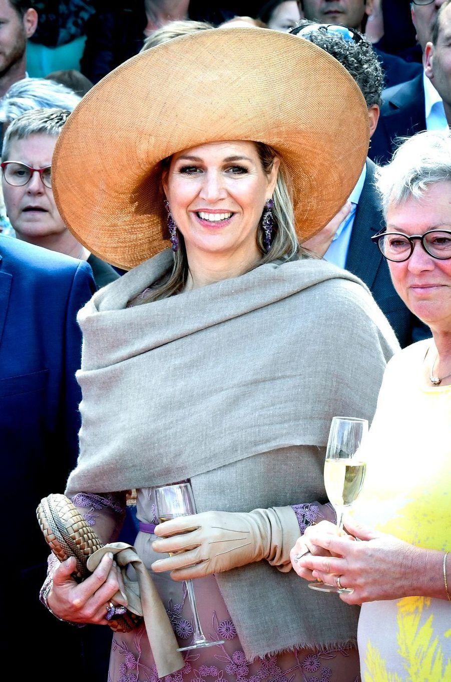 La reine Maxima des Pays-Bas à Enschede, le 21 juin 2018