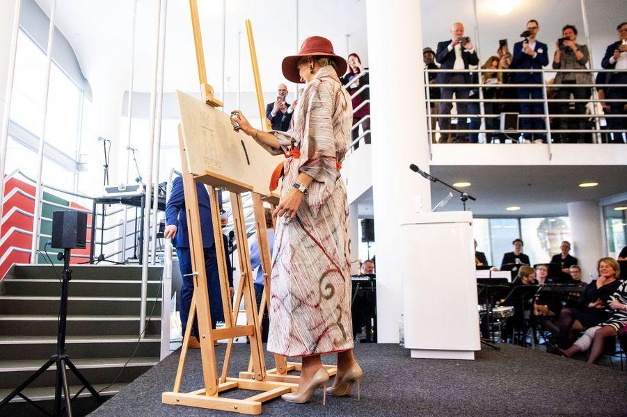 La reine Maxima des Pays-Bas à Heerlen, le 31 janvier 2019