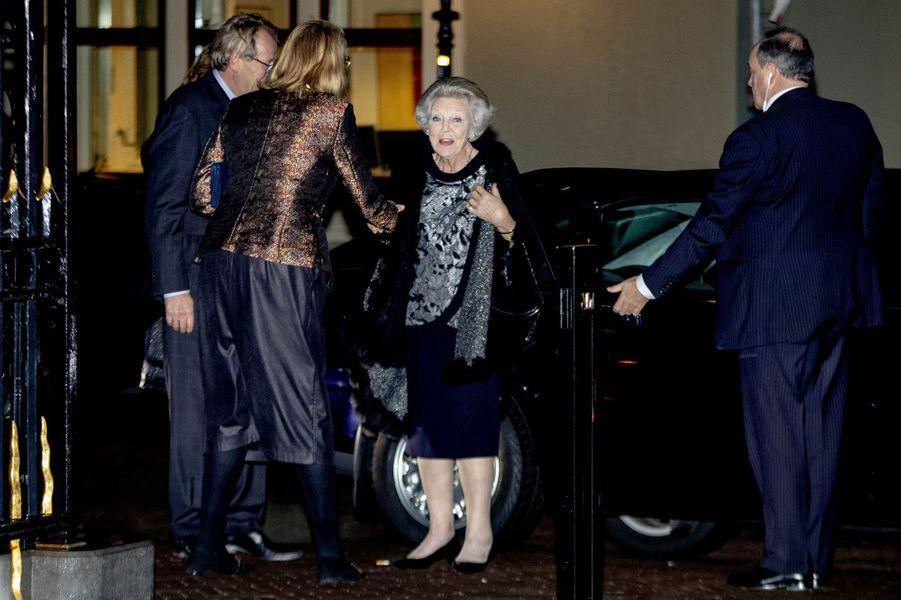 L'ex-reine Beatrix des Pays-Bas à La Haye, le 30 janvier 2019