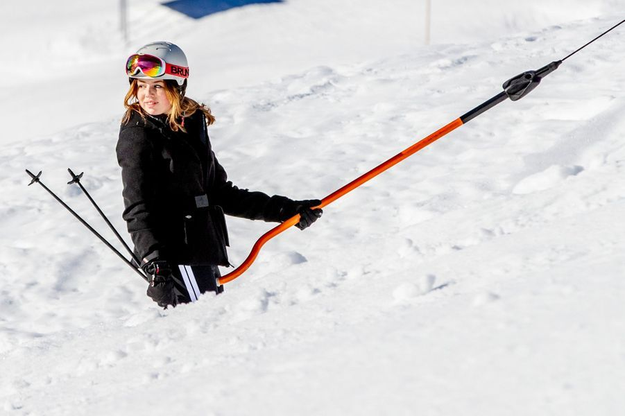 La princesse Alexia des Pays-Bas à Lech, le 25 février 2019