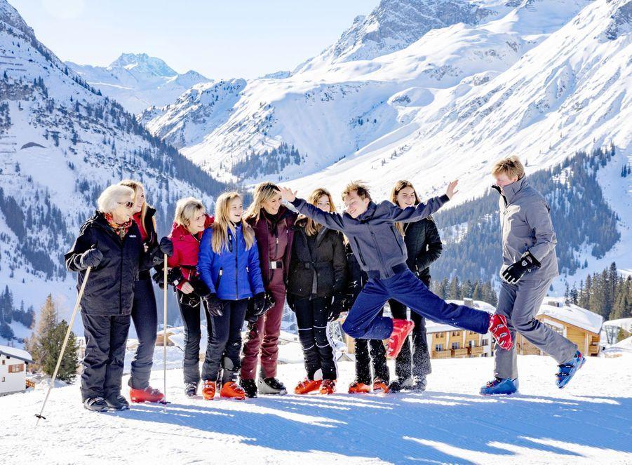 La famille royale des Pays-Bas dans la station de ski de Lech, le 25 février 2019