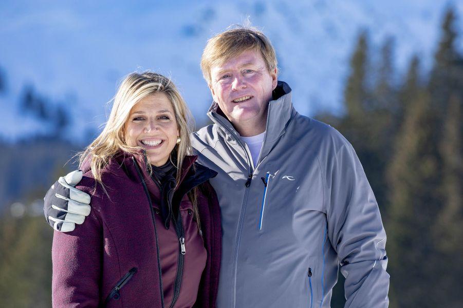 La reine Maxima et le roi Willem-Alexander des Pays-Bas à Lech, le 25 février 2019