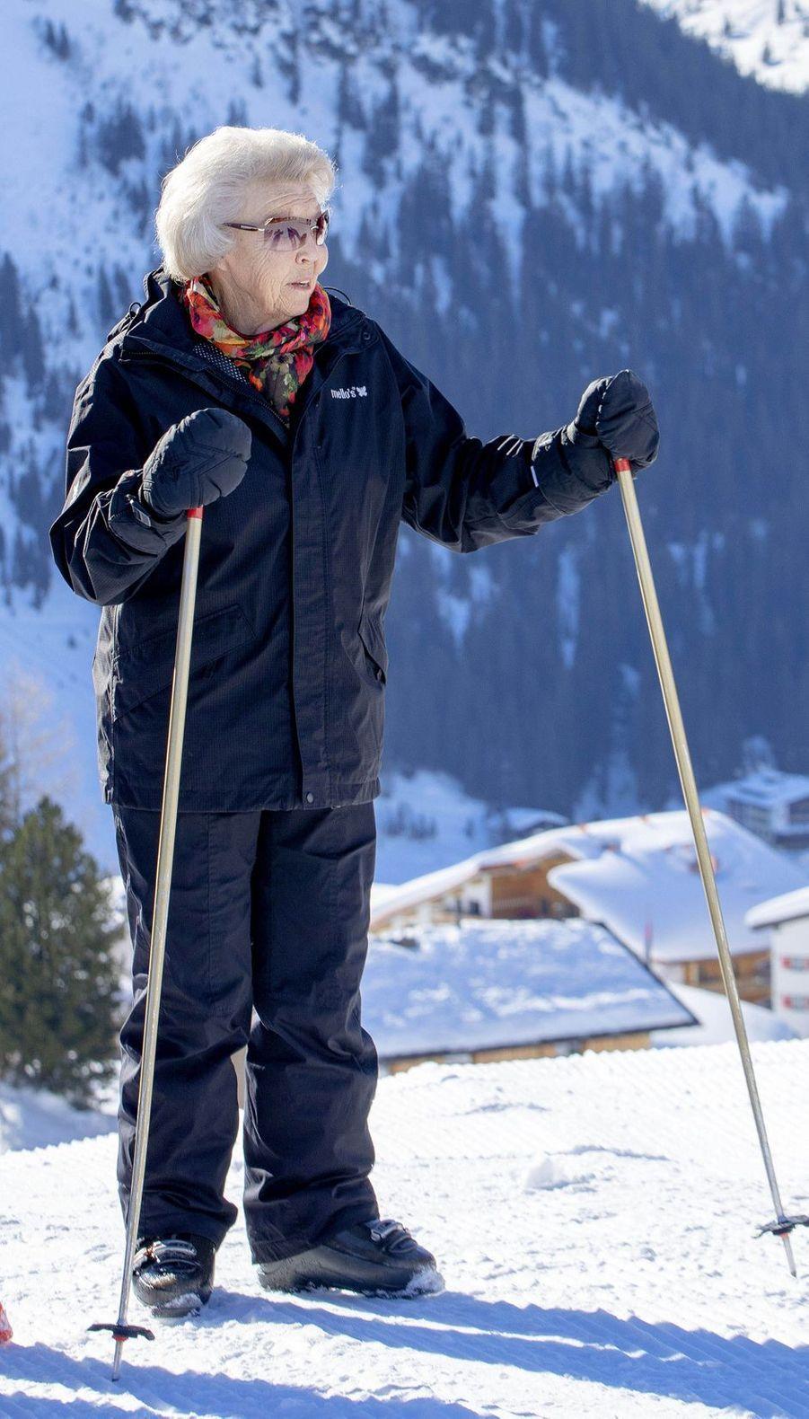 L'ex-reine Beatrix des Pays-Bas à Lech, le 25 février 2019