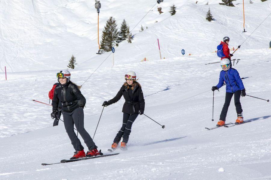 Les princesses Catharina-Amalia, Alexia et Ariane des Pays-Bas à Lech, le 25 février 2019