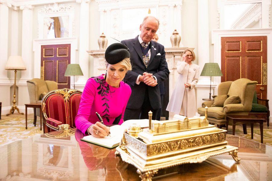 La reine Maxima des Pays-Bas à Londres, le 24 octobre 2018