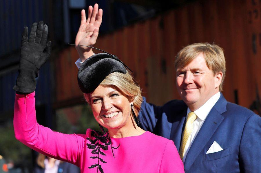 La reine Maxima et le roi Willem-Alexander des Pays-Bas à Londres, le 24 octobre 2018