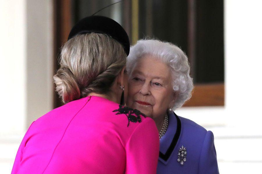 La reine Maxima des Pays-Bas et la reine Elizabeth II à Londres, le 24 octobre 2018