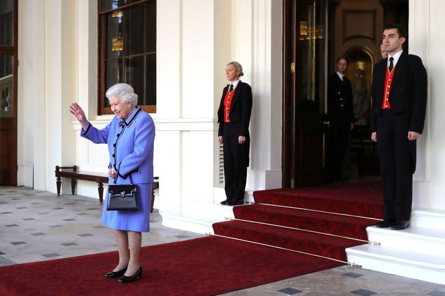 La reine Elizabeth II à Londres, le 24 octobre 2018
