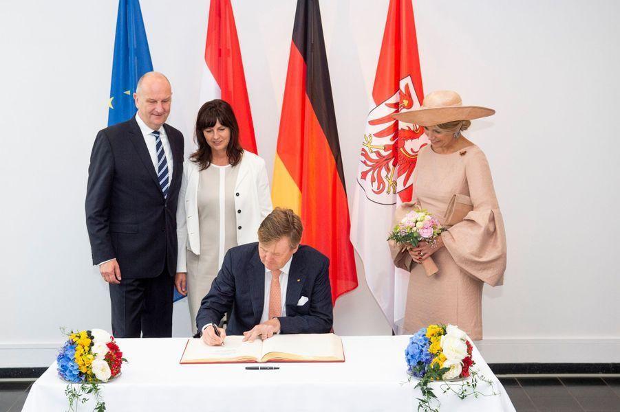 La reine Maxima et le roi Willem-Alexander des Pays-Bas en visite à Potsdam, le 22 mai 2019