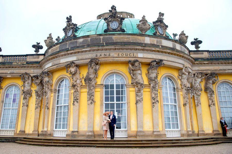 La reine Maxima et le roi Willem-Alexander des Pays-Bas à Potsdam, le 22 mai 2019