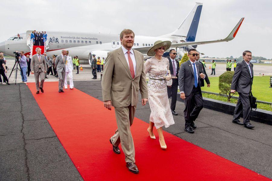 La reine Maxima et le roi Willem-Alexander des Pays-Bas arrivent à Yogyakarta, le 11 mars 2020