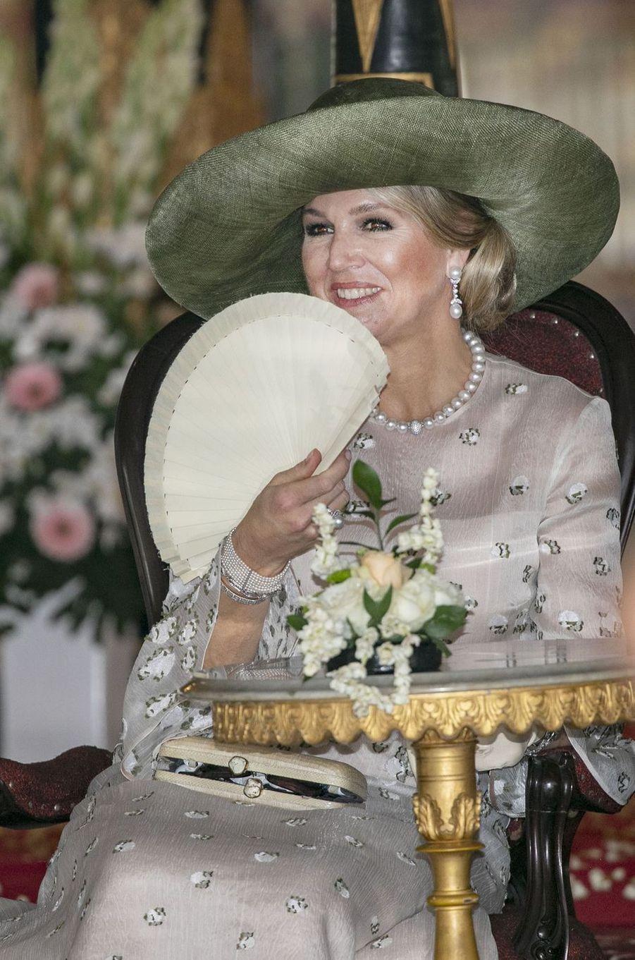 La reine Maxima des Pays-Bas à Yogyakarta, le 11 mars 2020