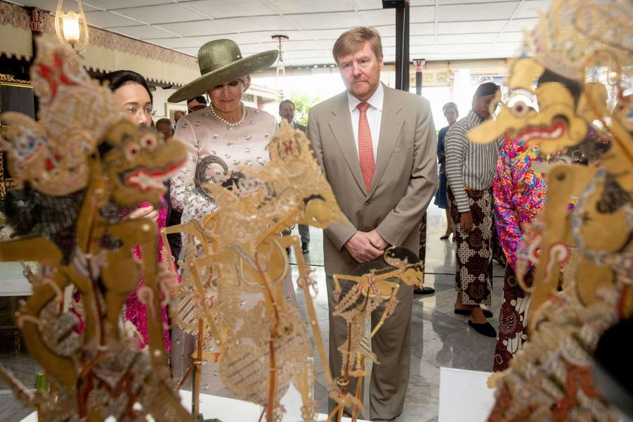 La reine Maxima et le roi Willem-Alexander des Pays-Bas à Yogyakarta, le 11 mars 2020