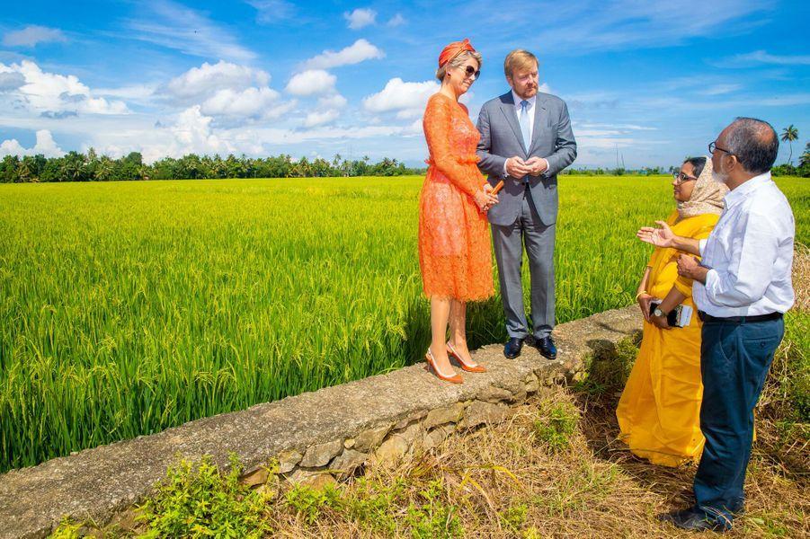 Le roi Willem-Alexander et la reine Maxima des Pays-Bas, dans l'Etat du Kerala le 18 octobre 2019