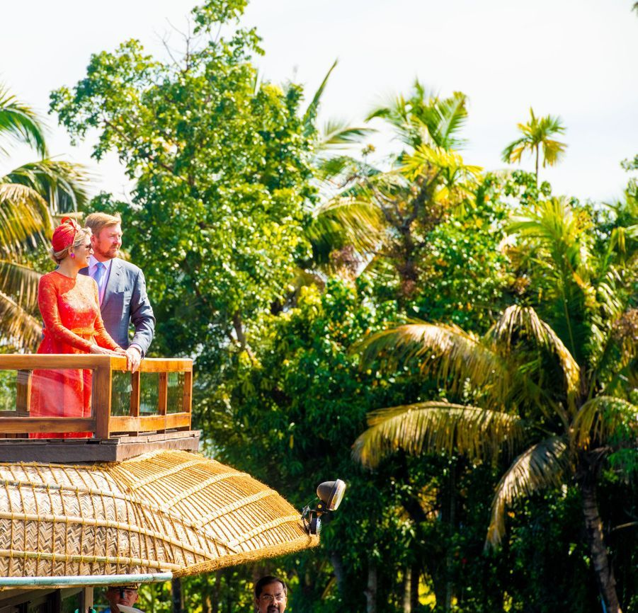 La reine Maxima et le roi Willem-Alexander des Pays-Bas dans l'Etat du Kerala, le 18 octobre 2019