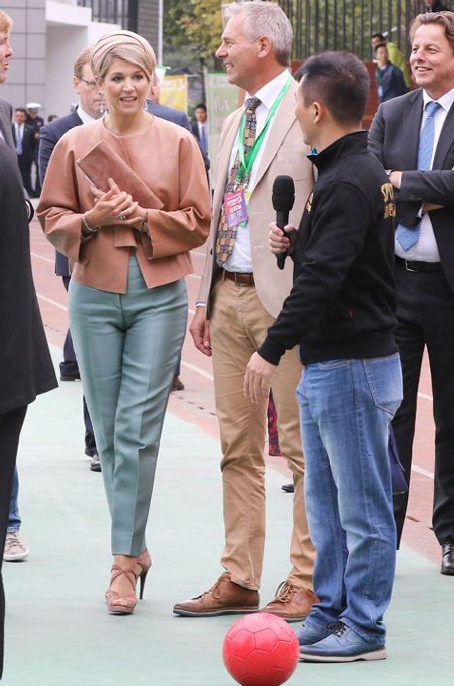 La reine Maxima des Pays-Bas à Pékin, le 25 octobre 2015