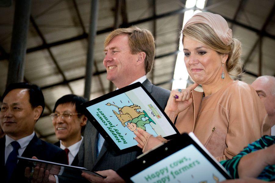 La reine Maxima et le roi Willem-Alexander des Pays-Bas à Pékin, le 25 octobre 2015