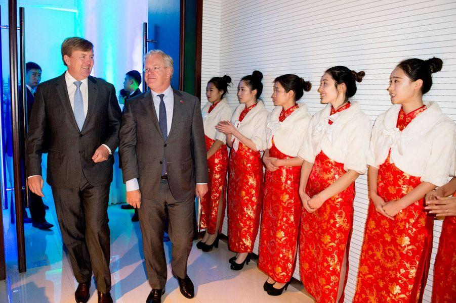 Le roi Willem-Alexander des Pays-Bas à Pékin, le 25 octobre 2015