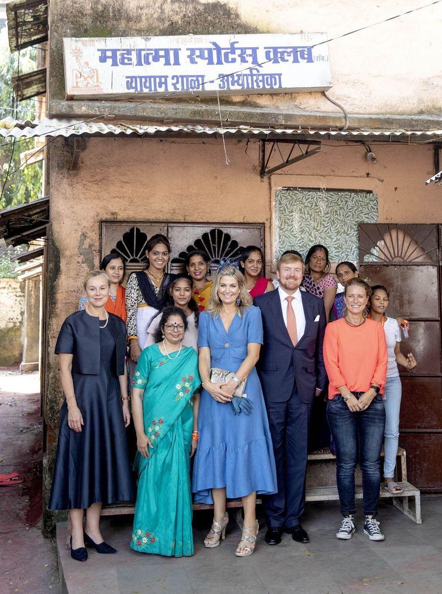 La reine Maxima et le roi Willem-Alexander des Pays-Bas à Bombay, le 16 octobre 2019