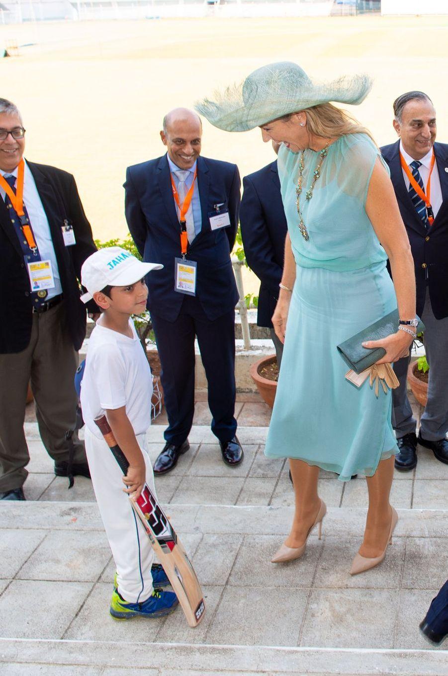 La reine Maxima des Pays-Bas à Mumbai, le 16 octobre 2019