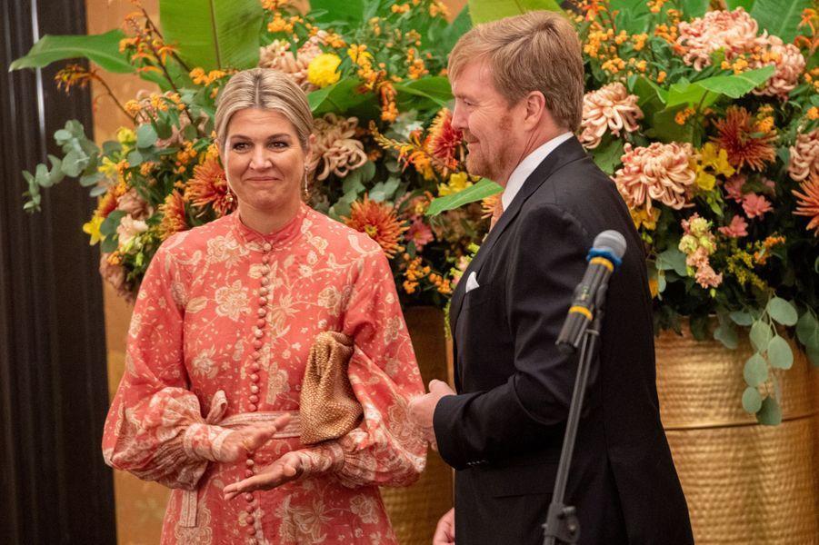 La reine Maxima et le roi Willem-Alexander des Pays-Bas à Mumbai, le 16 octobre 2019