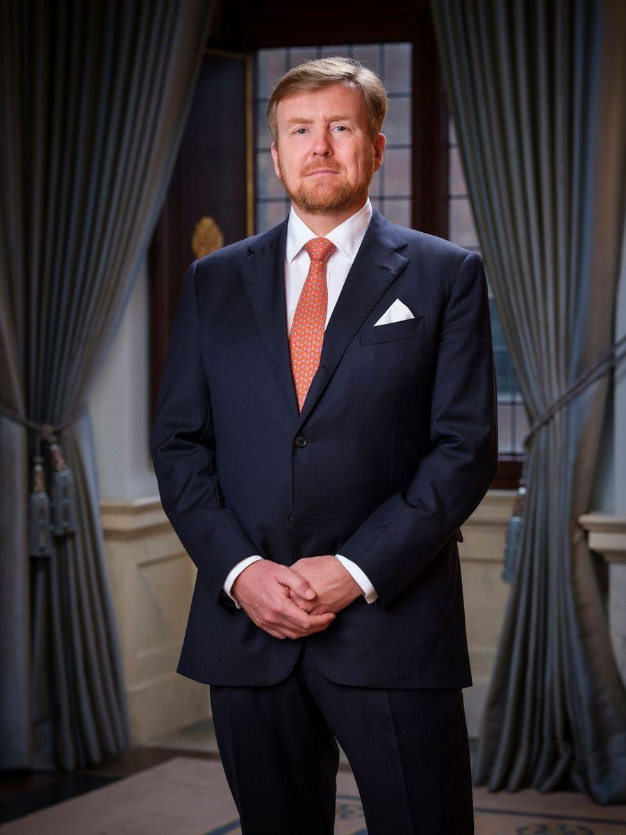 L'un des nouveaux portraits du roi Willem-Alexander des Pays-Bas au Palais royal à Amsterdam, diffusé le 8 février 2020