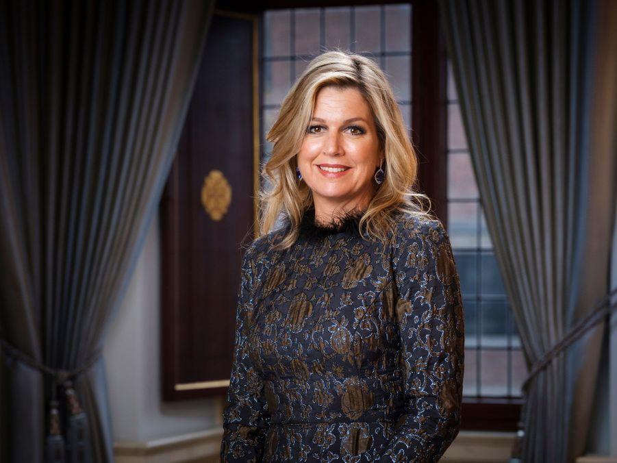 Nouveau portrait de la reine Maxima des Pays-Bas, dévoilé le 8 février 2020