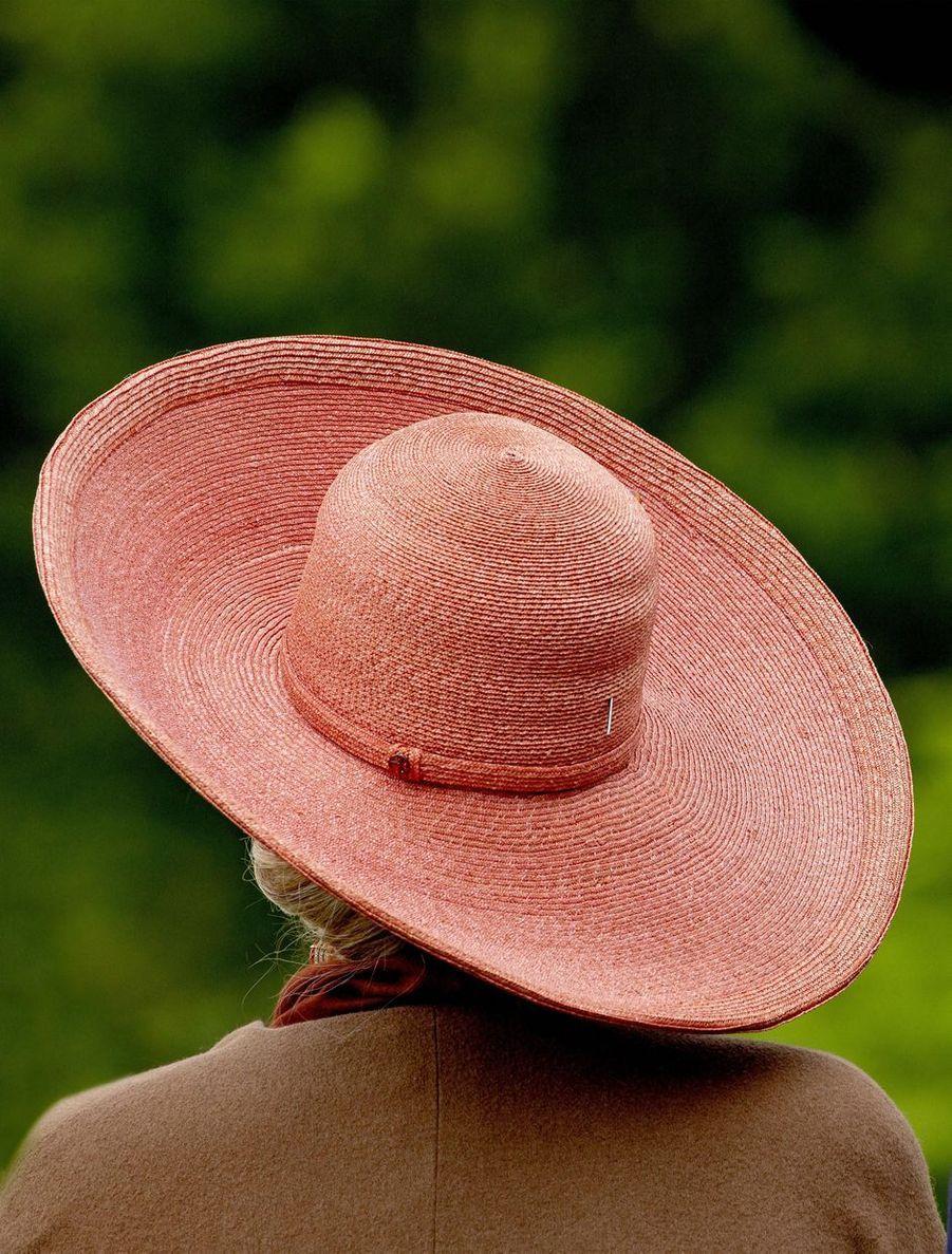 Le chapeau de la reine Maxima des Pays-Bas à Dublin, le 13 juin 2019