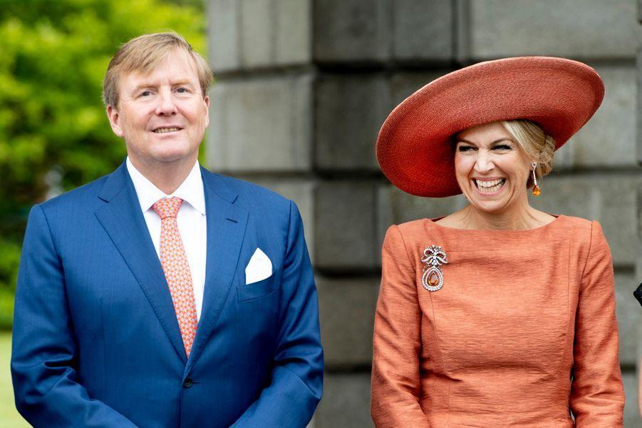 La reine Maxima et le roi Willem-Alexander des Pays-Bas à Dublin, le 13 juin 2019