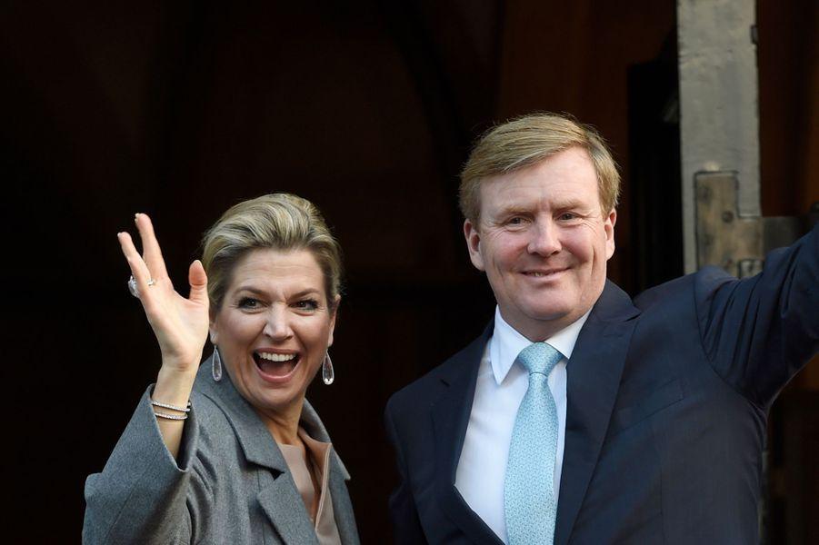 La reine Maxima et le roi Willem-Alexander des Pays-Bas à Amsterdam, le 25 novembre 2015