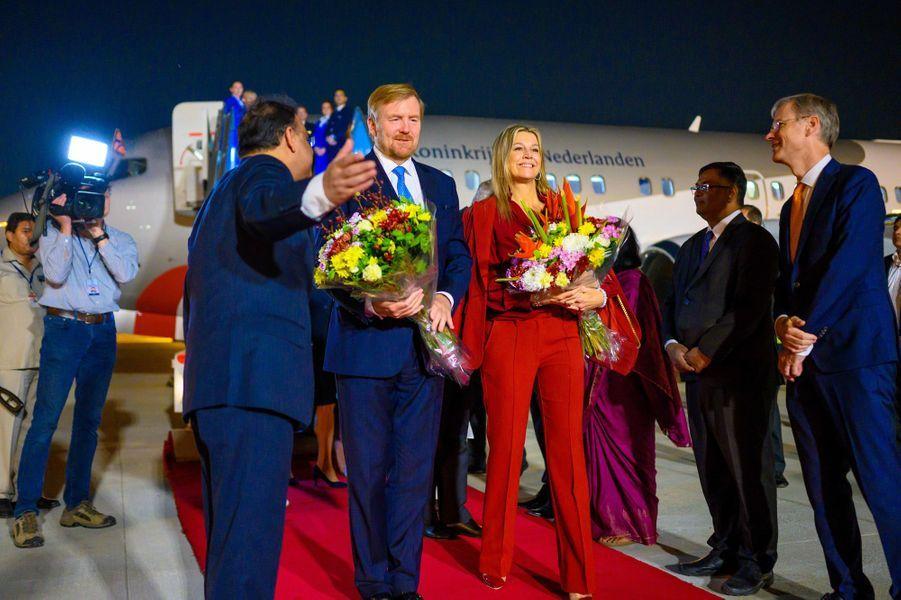 La reine Maxima et le roi Willem-Alexander des Pays-Bas à New Delhi, le 13 octobre 2019
